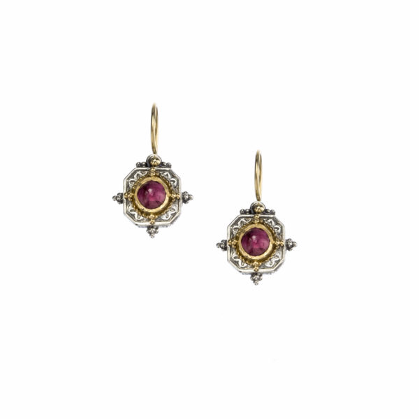 Solid 18K Gold & Silver Medieval-Byzantine Earrings