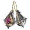 Gerochristo Solid 18K Gold & Sterling Silver Medieval-Byzantine Earrings