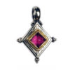 Solid 18K Gold & Sterling Silver Medieval-Byzantine Pendant