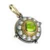 Solid 18K Gold, Silver & Pearls Medieval-Byzantine Pendant