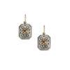 Gerochristo Solid 18K Gold & Sterling Silver - Medieval Drop Earrings