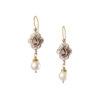 Gerochristo Solid 18K Gold, Silver & Stones Medieval Dangle Earrings