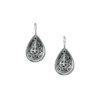 GerochristoSterling Silver Filigree drop earrings in Byzantine-Medieval design