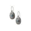 Handmade Silver, Gerochristo byzantine earrings.