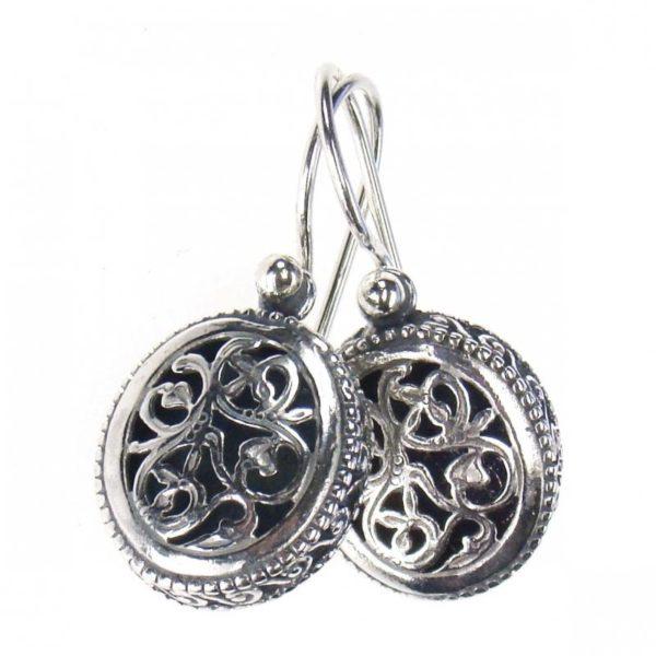 Gerochristo Sterling Silver - Medieval-Byzantine Filigree Earrings