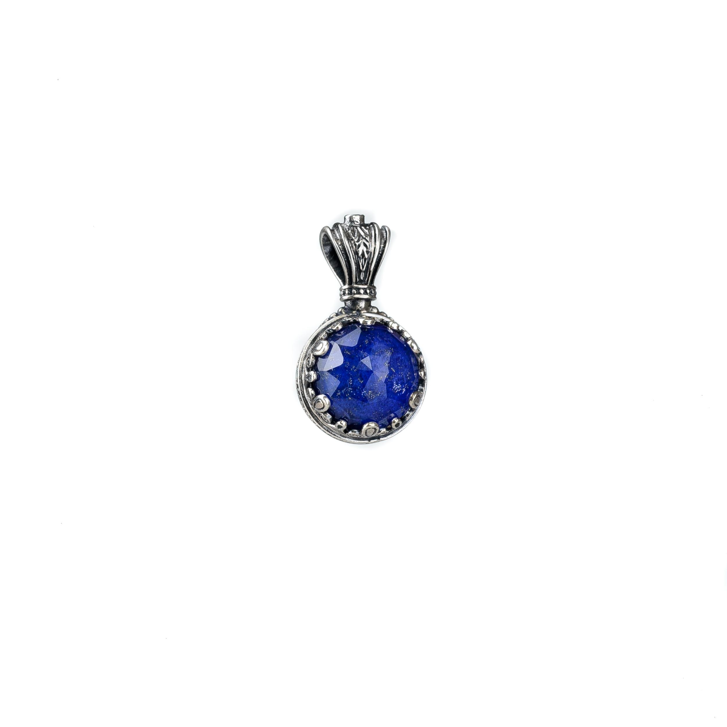 Silver, Gerochristo, handmade pendant with Azourite stone.