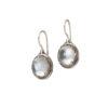 Gerochristo Sterling Silver Medieval Doublet Oval Drop Hook Earrings