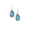 Gerochristo Sterling Silver Medieval Doublet Tear Drop Hook Earrings