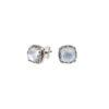 Gerochristo Sterling Silver Medieval Doublet Post Earrings