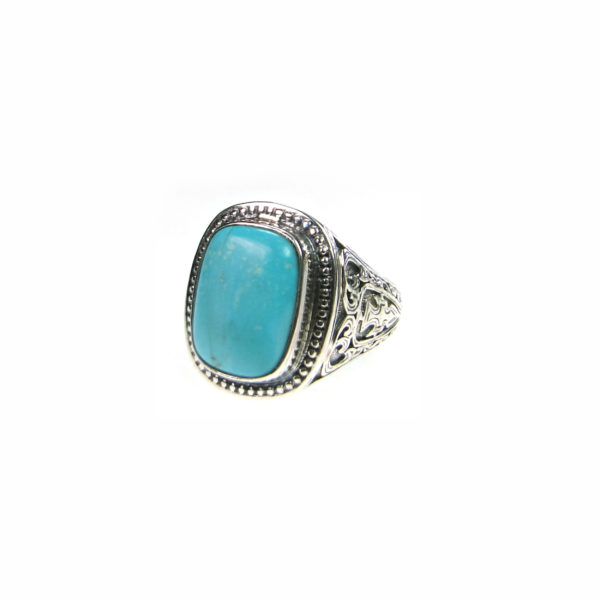 Sterling Silver & Turquoise Medieval Chevalier Ring