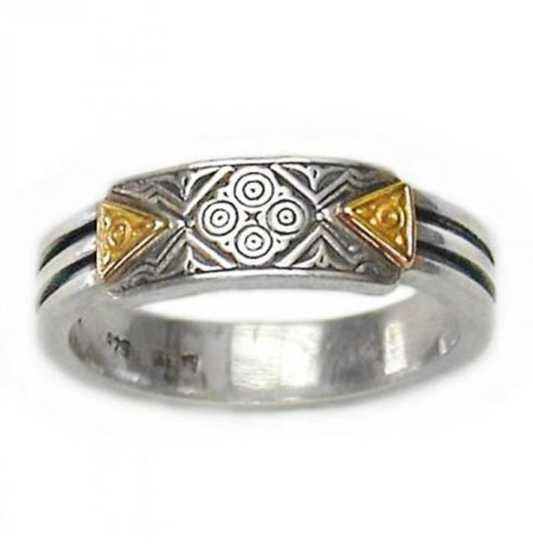 Gerochristo Solid 18K Gold & Silver - Medieval-Byzantine Ring