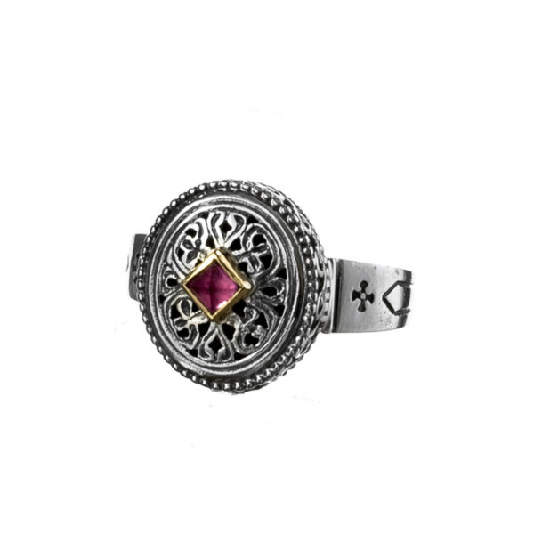 Gerochristo Solid 18K Gold & Sterling Silver Medieval-Byzantine Ring