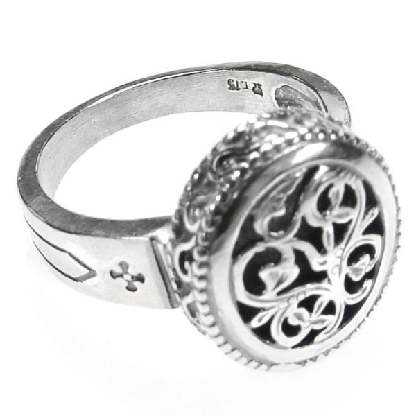 Gerochristo Sterling Silver Medieval Byzantine Filigree Ring