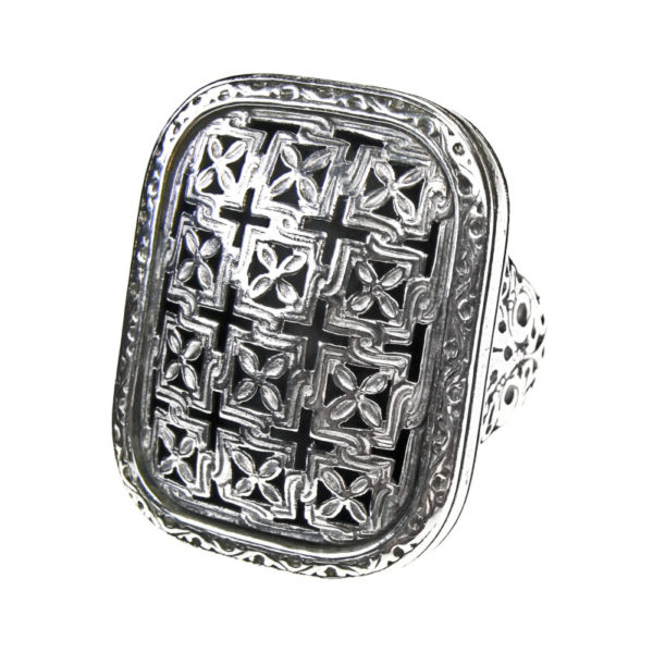 Sterling Silver Medieval-Byzantine Large Cross Ring