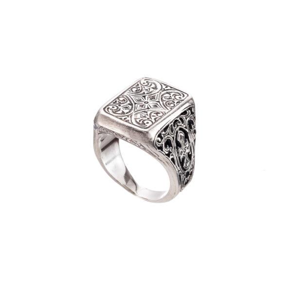 Sterling Silver Medieval-Byzantine Cross Ring