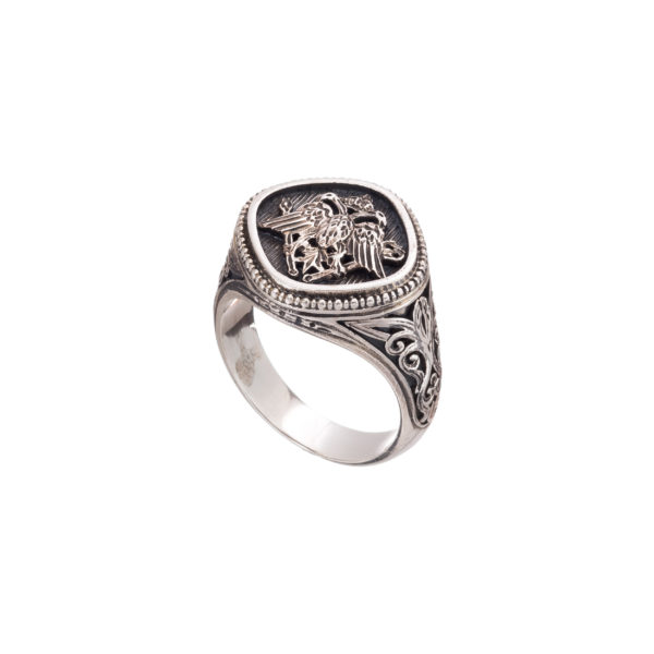 Double Headed Eagle -Byzantine Silver Ring