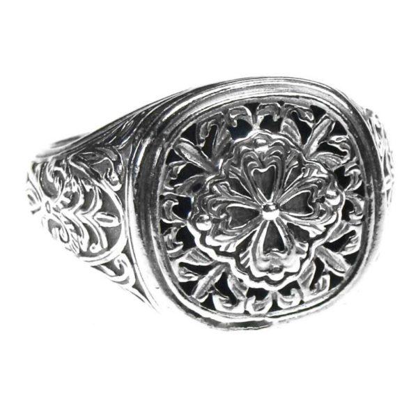 Gerochristo Sterling Silver Medieval Byzantine Ornate Ring