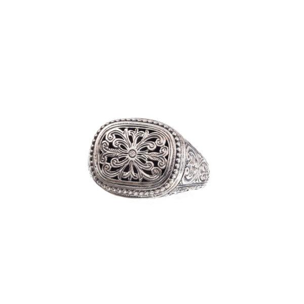 Sterling Silver Medieval-Byzantine Filigree Band Ring
