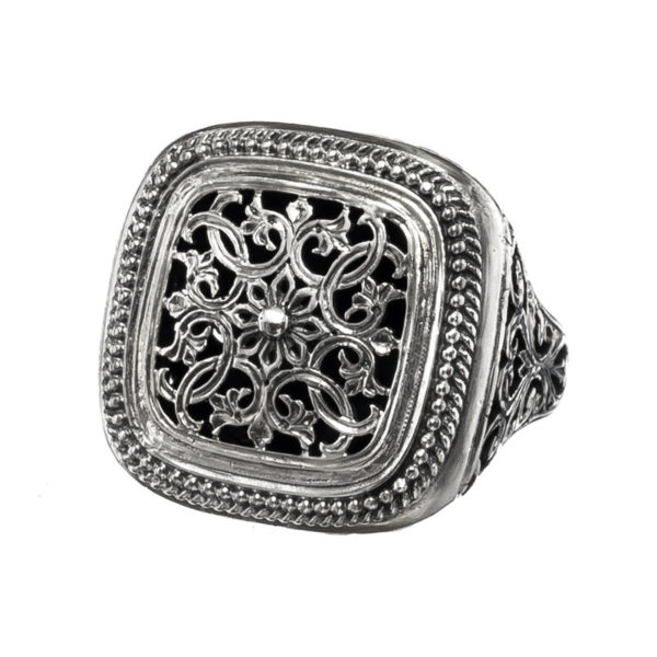 Sterling Silver Medieval Large Filigree Ring
