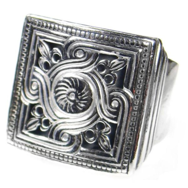 Sterling Silver Medieval Byzantine Large Ring