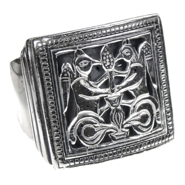 Sterling Silver Byzantine Large Ring