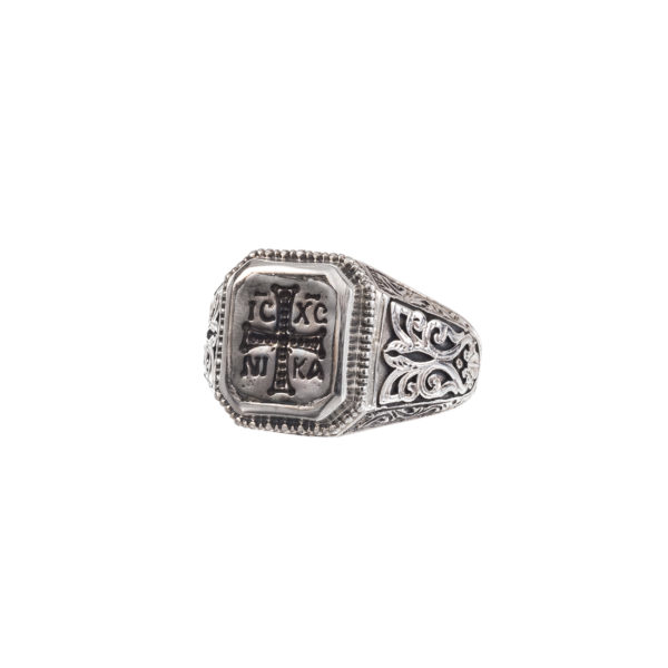 Sterling Silver and Bronze Byzantine Chevalier Conqueror's Cross Ring