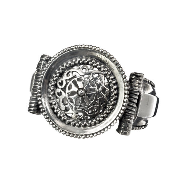 Sterling Silver Medieval-Byzantine Filigree Ring
