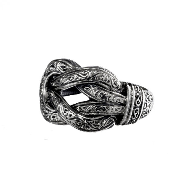 Hercules Knot - Sterling Silver Band Ring