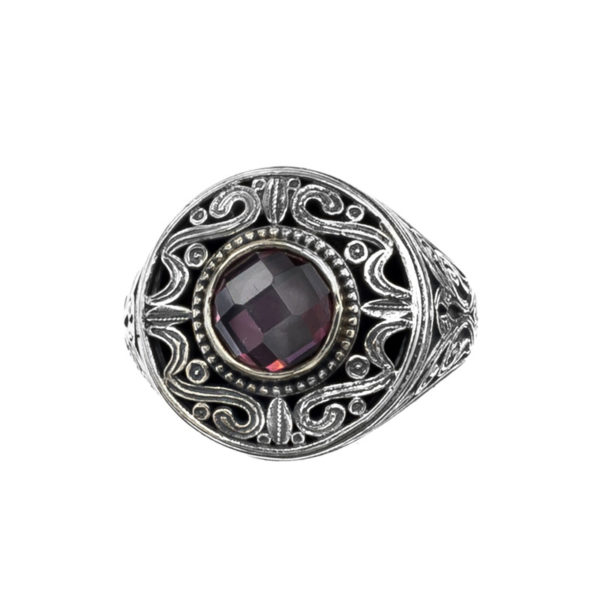 Sterling Silver & Stone Medieval-Byzantine Cocktail Ring