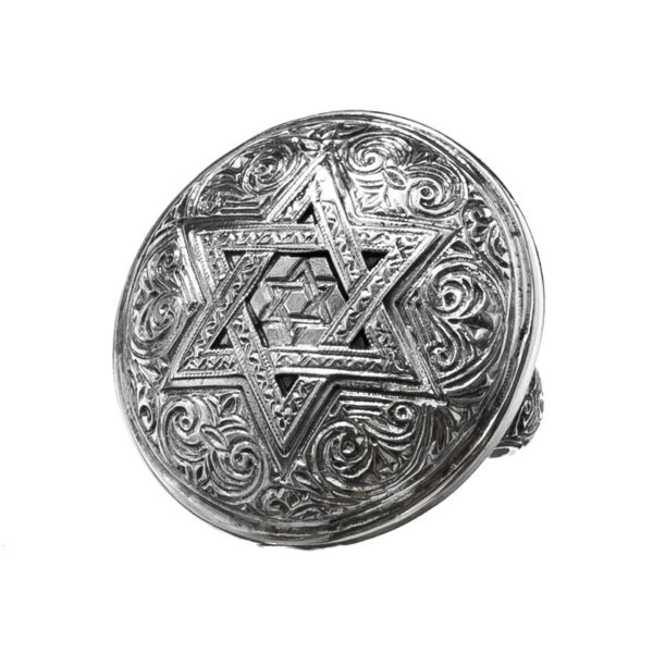 Sterling Silver - Star of David - Large Ring