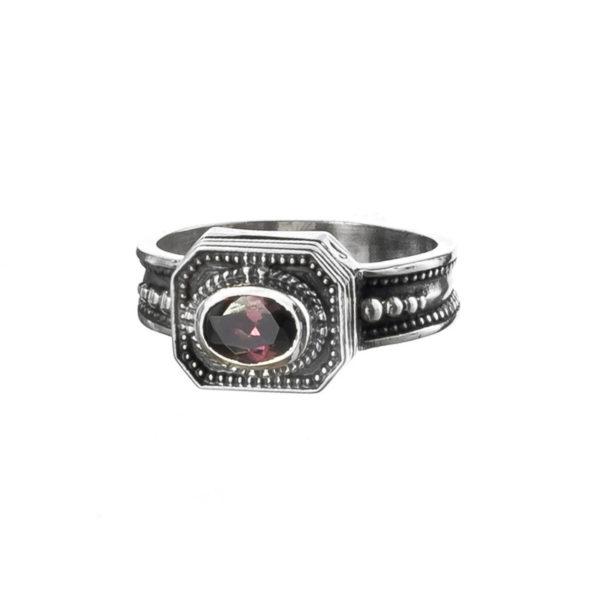 Gerochristo Sterling Silver & Zircon - Medieval-Byzantine Ring