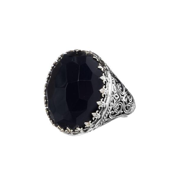 Gerochristo Sterling Silver Medieval-Byzantine Cocktail Ring