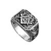 Solid Handmade Silver Masonic Band Ring