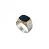 Classic Black Onyx ring in 18K Gold and Sterling Silver.