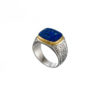 Classic Lapis ring in 18K Gold and Sterling Silver.