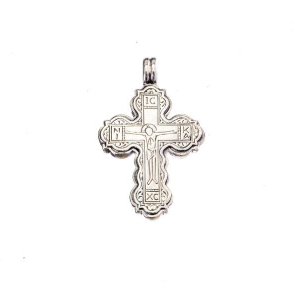 Gerochristo Sterling Silver Byzantinte Crucifix Cross Pendant