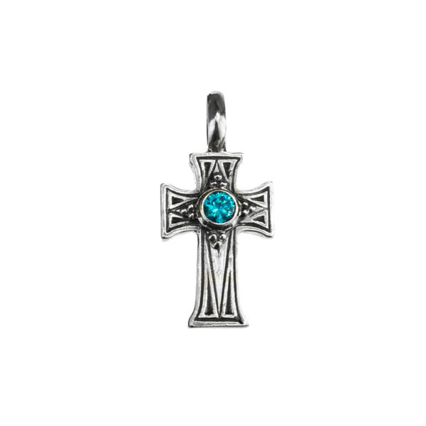 Gerochristo Sterling Silver Medieval-Byzantine Cross Pendant