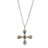 Gerochristo 18K Gold, Silver & Stone Medieval-Byzantine Cross Pendant