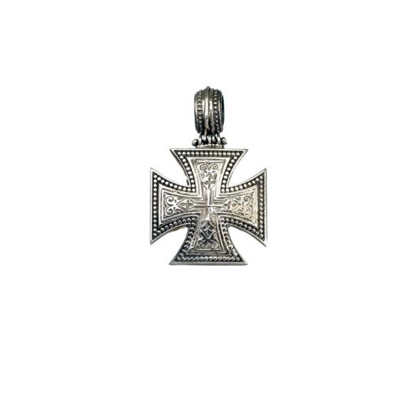 Gerochristo Sterling Silver Maltese Cross Pendant