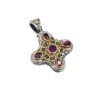 Gerochristo Solid 18K Gold & Sterling Silver Byzantine-Medieval Cross Pendant