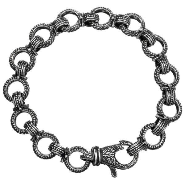 Gerochristo Sterling Silver Medieval-Byzantine Link Bracelet