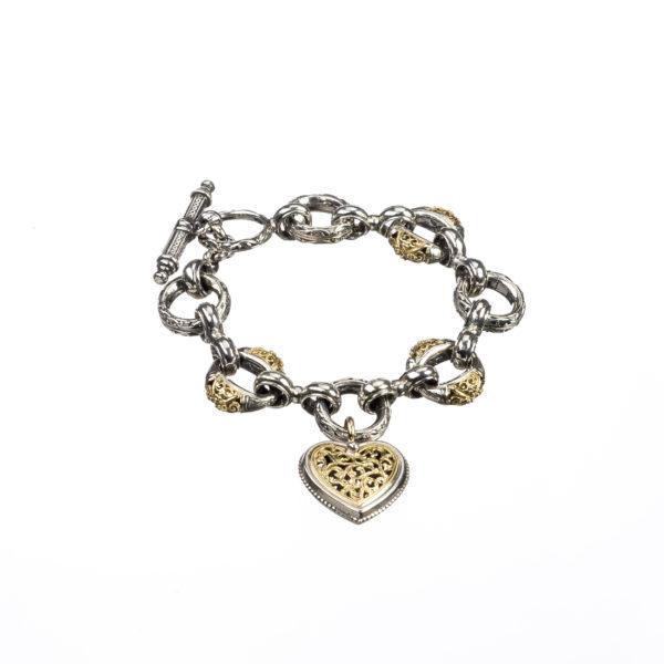 18K Gold and Silver 925, handmade Byzantine bracelet.