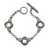 Gerochristo Sterling Silver Medieval Link Charm Bracelet