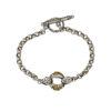 Gerochristo Solid 18K Gold & Sterling Silver Medieval Link Bracelet