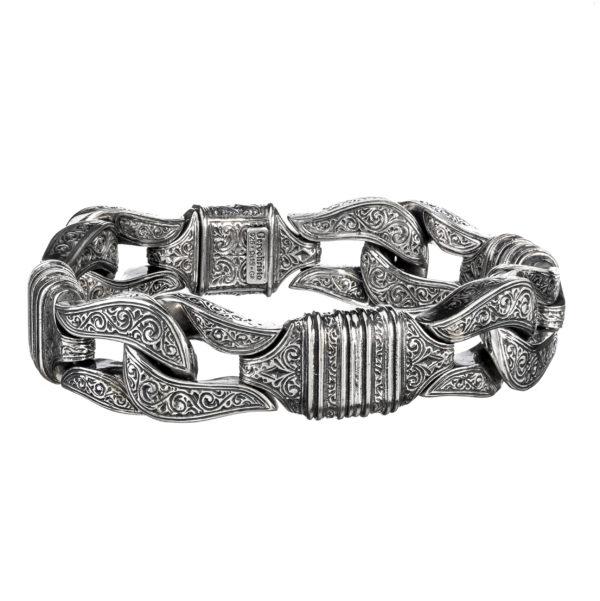 Silver 925, Byzantine, handmade bracelet by Gerochristo.