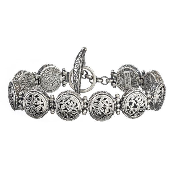 Sterling Silver Medieval-Byzantine Filigree Bracelet