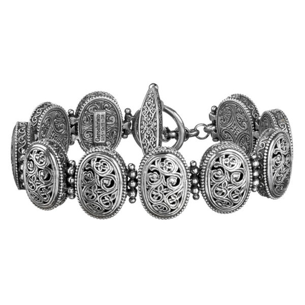 Gerochristo Sterling Silver Medieval-Byzantine Filigree Bracelet