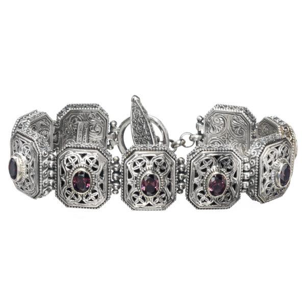 Sterling Silver Medieval-Byzantine Filigree Link Bracelet