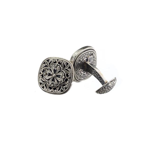 Sterling Silver Byzantine-Medieval Filigree Cufflinks