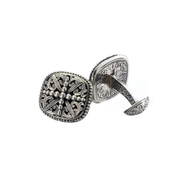 Solid Sterling Silver Medieval Cross Cufflinks